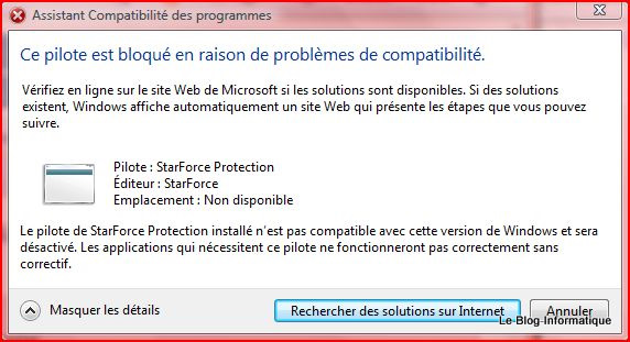 pilote starforce protection windows 7